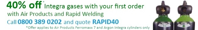 40% off your first order with Air Products and Rapid Welding